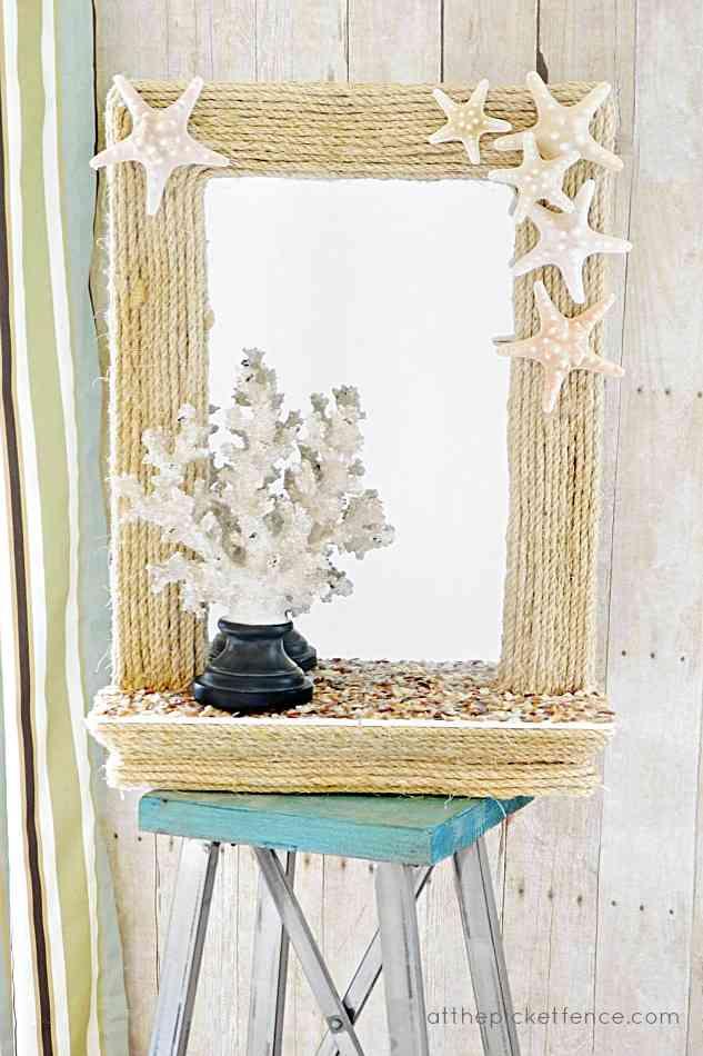 decorar el espejo hecho por ti misma