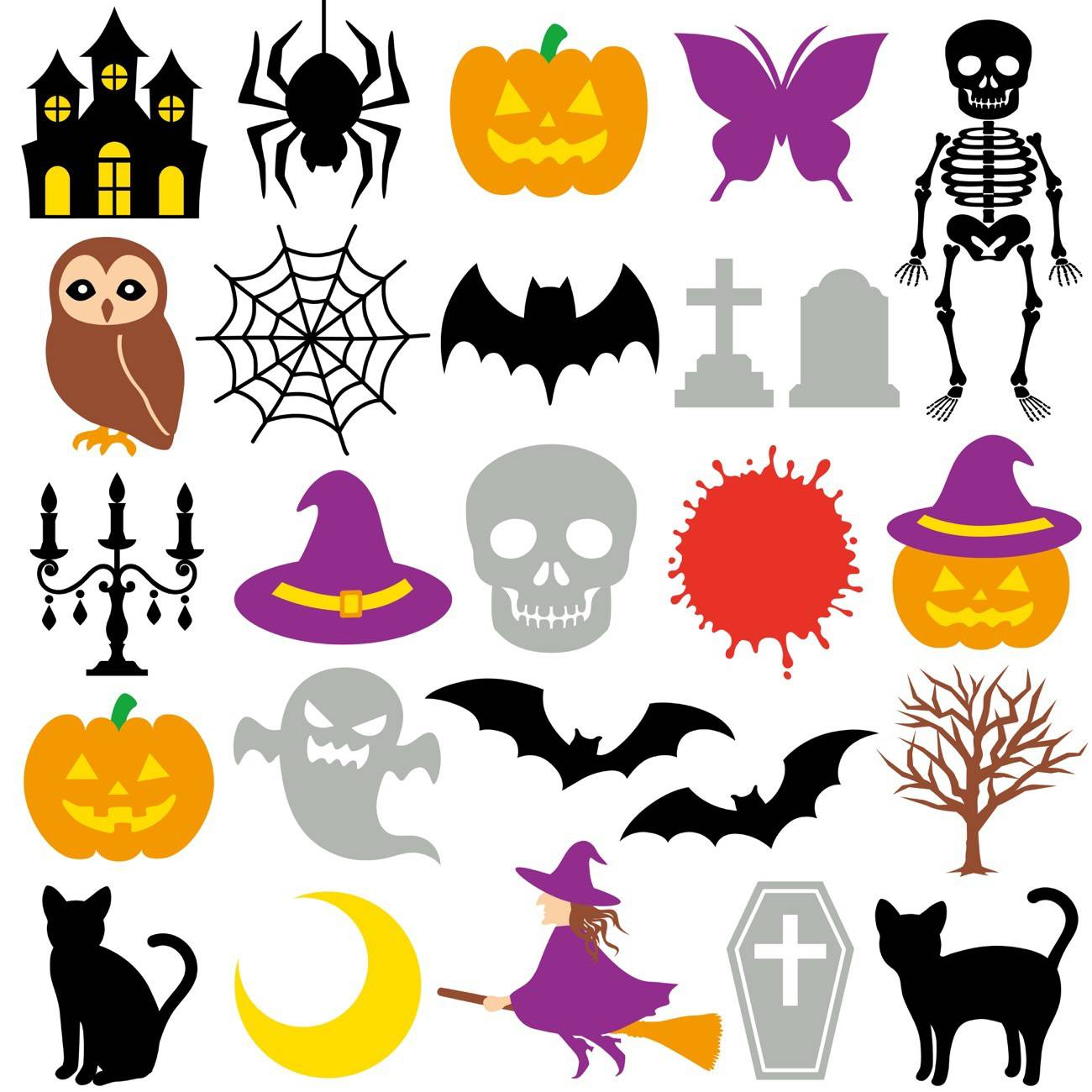 decorar tu jardin en Halloween - recortables de halloween para ninos