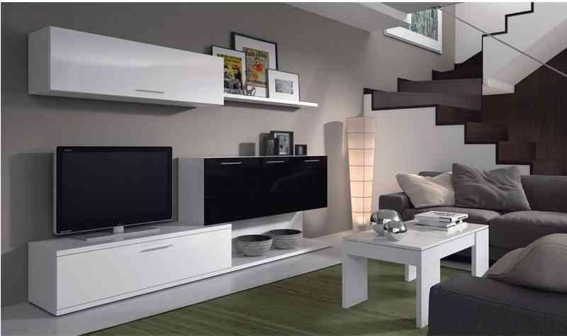 mueble modular de salon - estilo minimalista