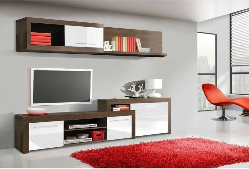mueble modular de salon - estilo retro