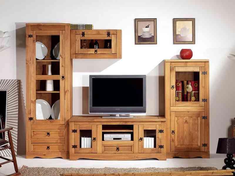 Mueble modular de salon - estilo rustico