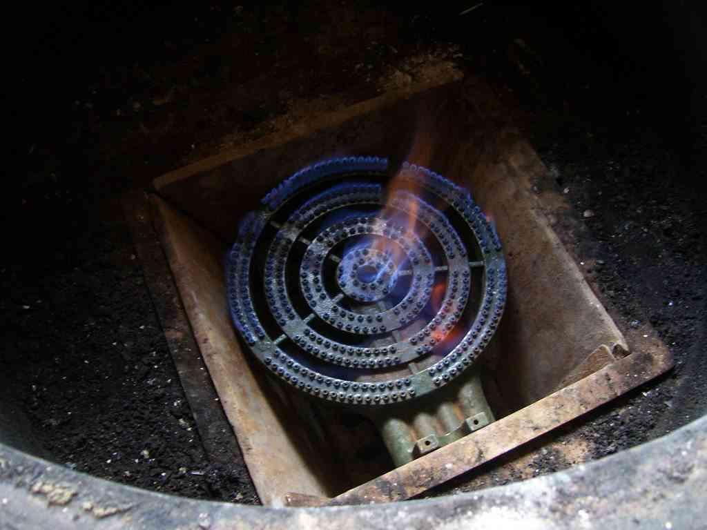 Cocina a biogas