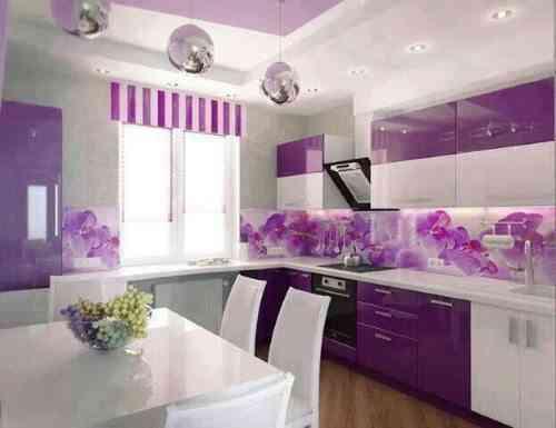 cocinas púrpuras