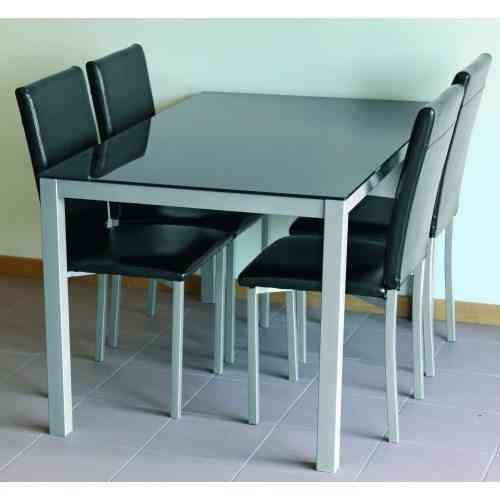 Conjunto de elegantes y modernas mesas sillas para el dormitorio