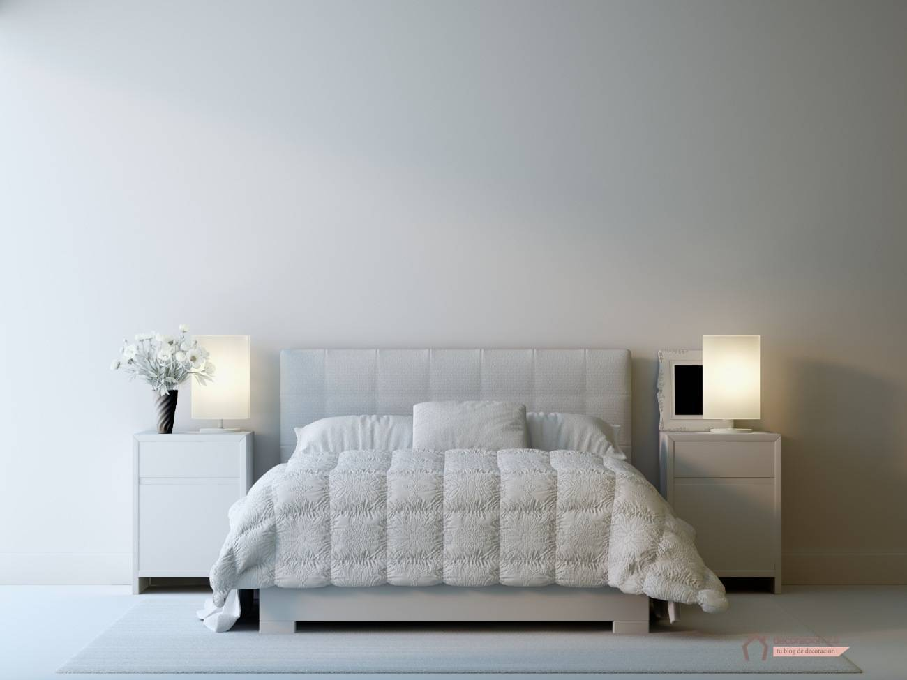DECORACION - habitacion blanca - dp