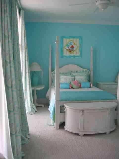 decorar el dormitorio en azul