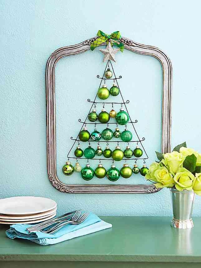 DIY - arbol de Navidad con bolas