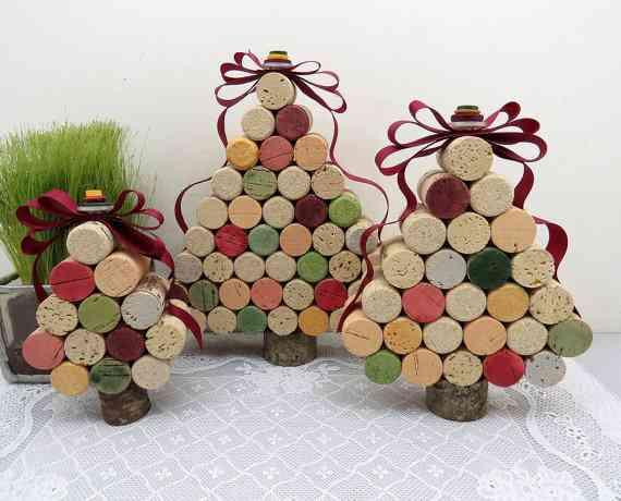 DIY - arbol de navidad con corchos
