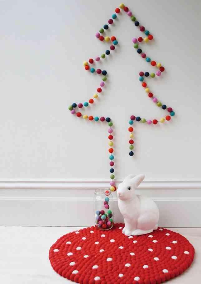DIY - árbol de navidad de pompones