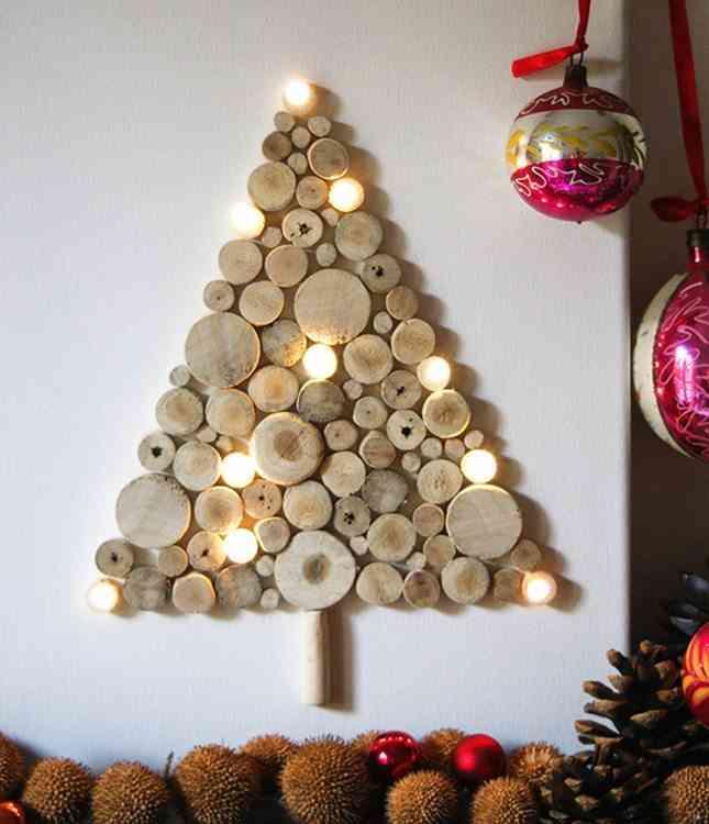 DIY - arbol de navidad de troncos