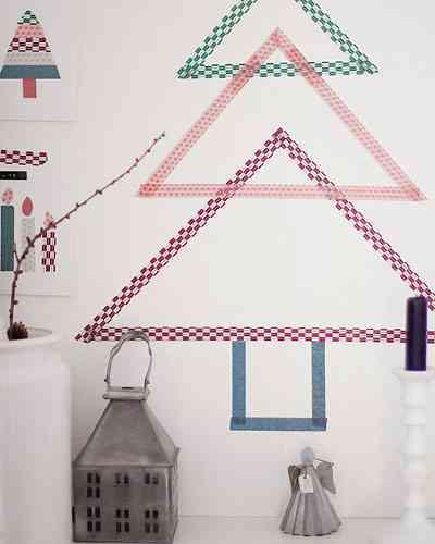 DIY - arbol de navidad de washi tape
