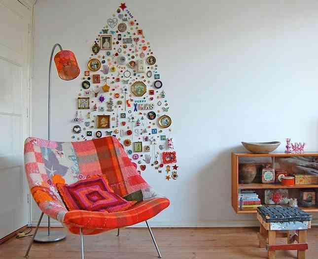 DIY - arbol de navidad en pared