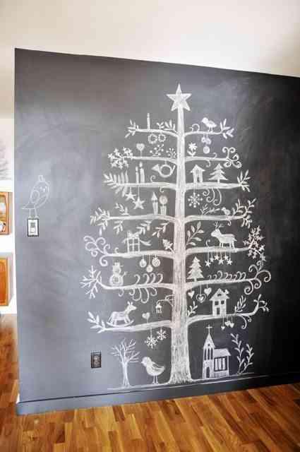 DIY - arbol de navidad en pizarra