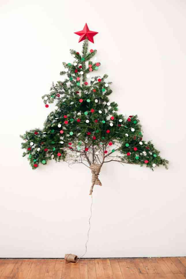 22 ideas para tu rbol de navidad diy for Como hacer un arbol de navidad original