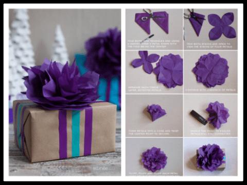 flores de papel de seda paso a paso