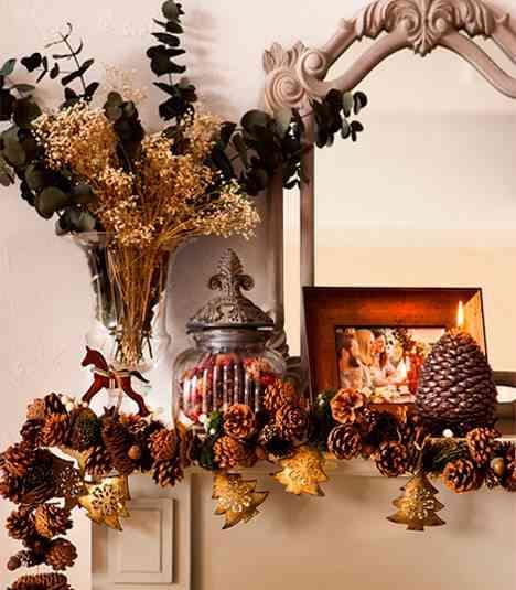 Ideas para decorar un mesita o mesa de entrada con estilo de navidad