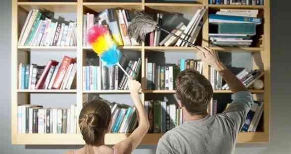 limpiar las estanterías