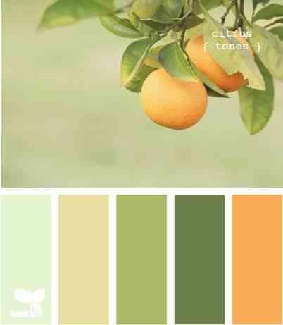 pintar cocinas con colores cítricos