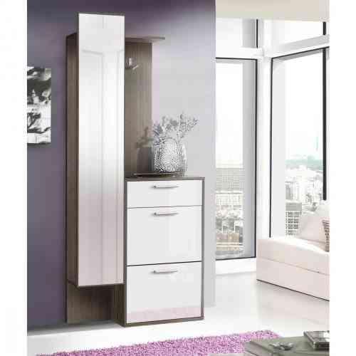 Recibidor elegante para integrar en tu casa - Recibidor con armario ...