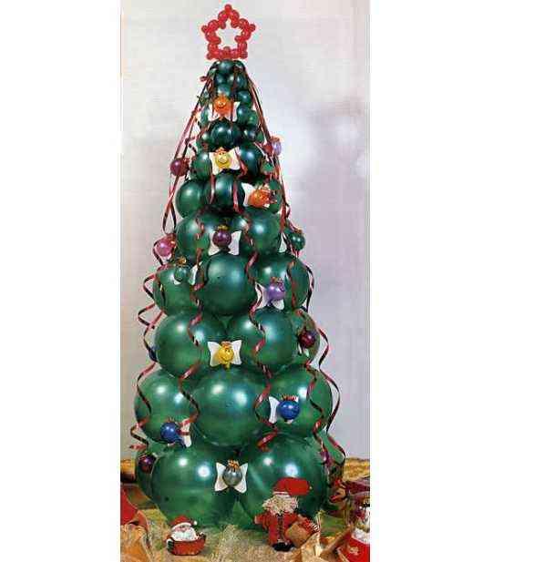 arbol-globo-navidad