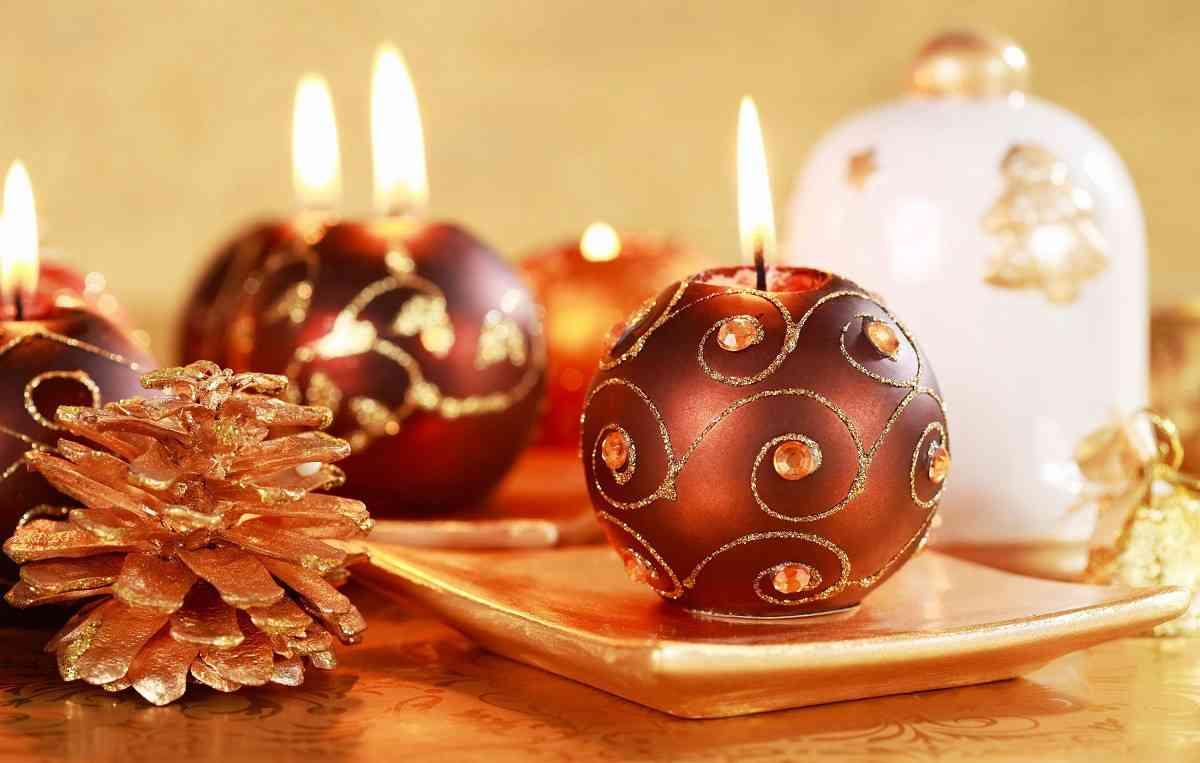 adornos navidad velas