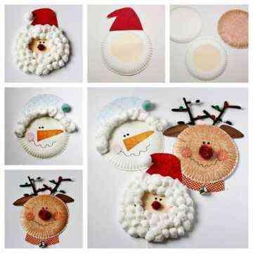 Adornos con platos desechables para decorar en navidad - Adornos navidenos diy ...