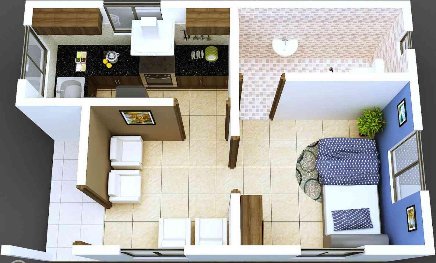apartamento diminuto