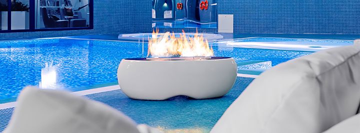 chimenea de diseño planika - piscina