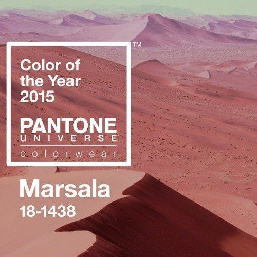 decoracion 2015 color marsala