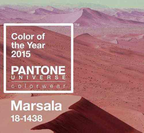 decoracion 2015 color marsala