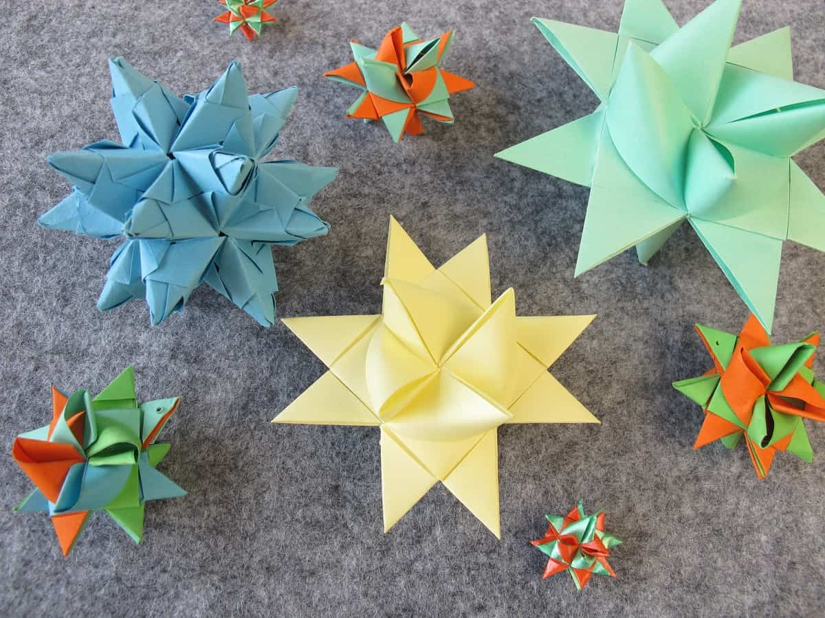 Plantillas Estrellas Para Decorar.Estrellas De Papel En Origami Paso A Paso Para Decorar Tu Hogar