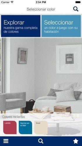 escoger colores para las paredes
