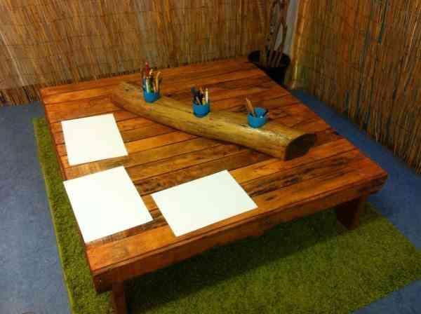 mesa reciclada palets