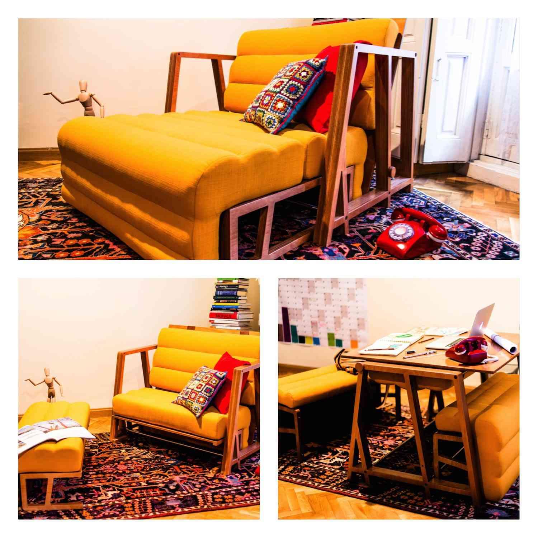 MOODY es un sofá para 2 y mesa para 4