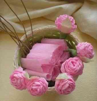 rosas de papel crep - Como Hacer Rosas De Papel