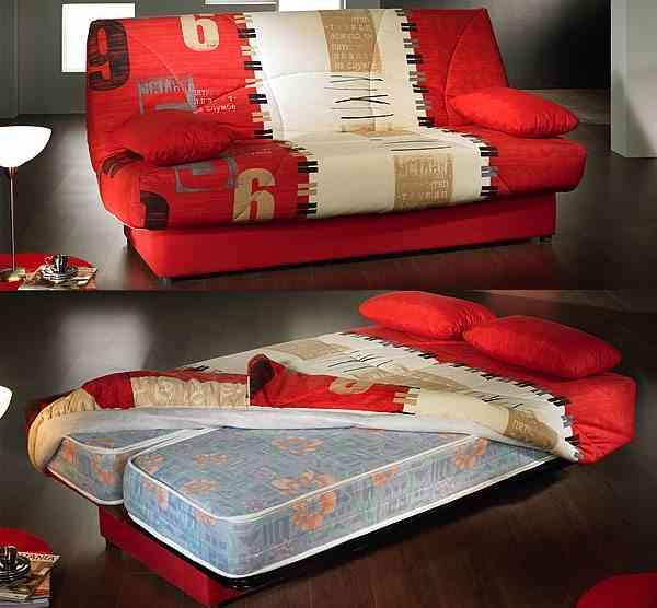 131117 Sofa Cama Libro 3 plazas. 2 colchones muelles