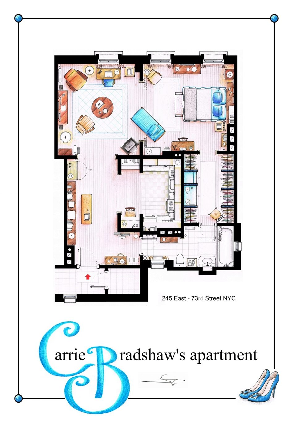 Carrie Bradshaw's apartment in Sex and the City