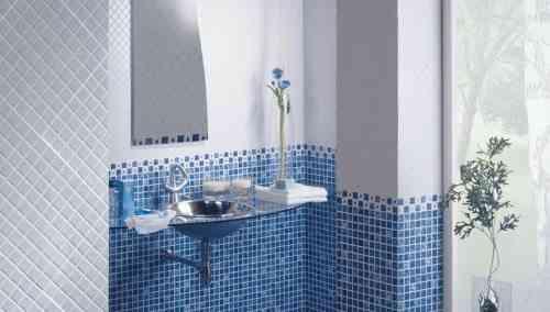 Azulejos para el ba o en distintas superficies y colores - Azulejos mosaicos para banos ...
