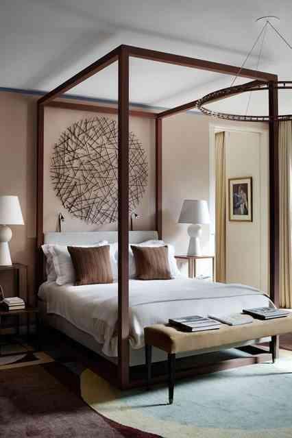 decorar dormitorios originales - cama con dosel