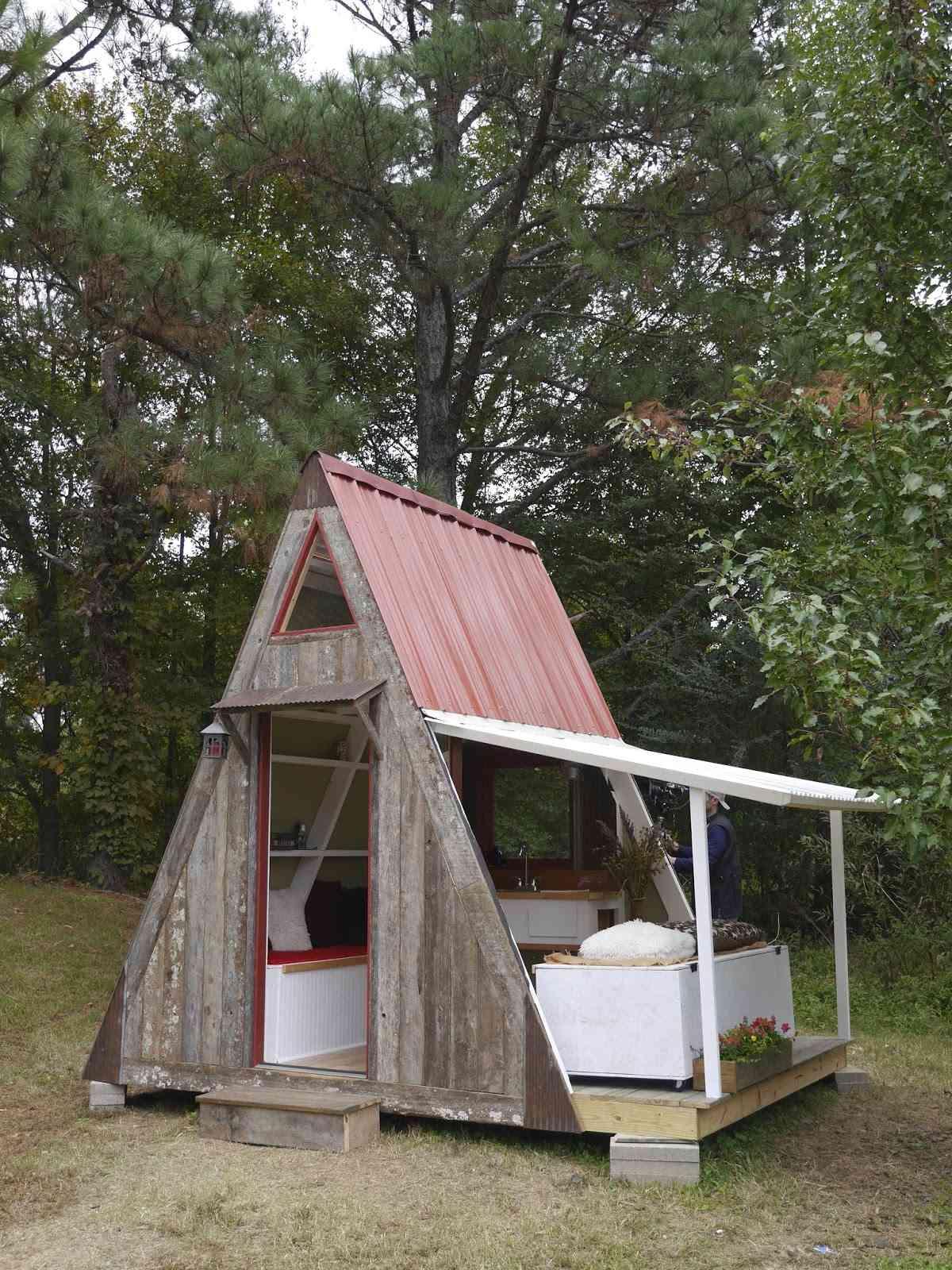 mini casa con porche