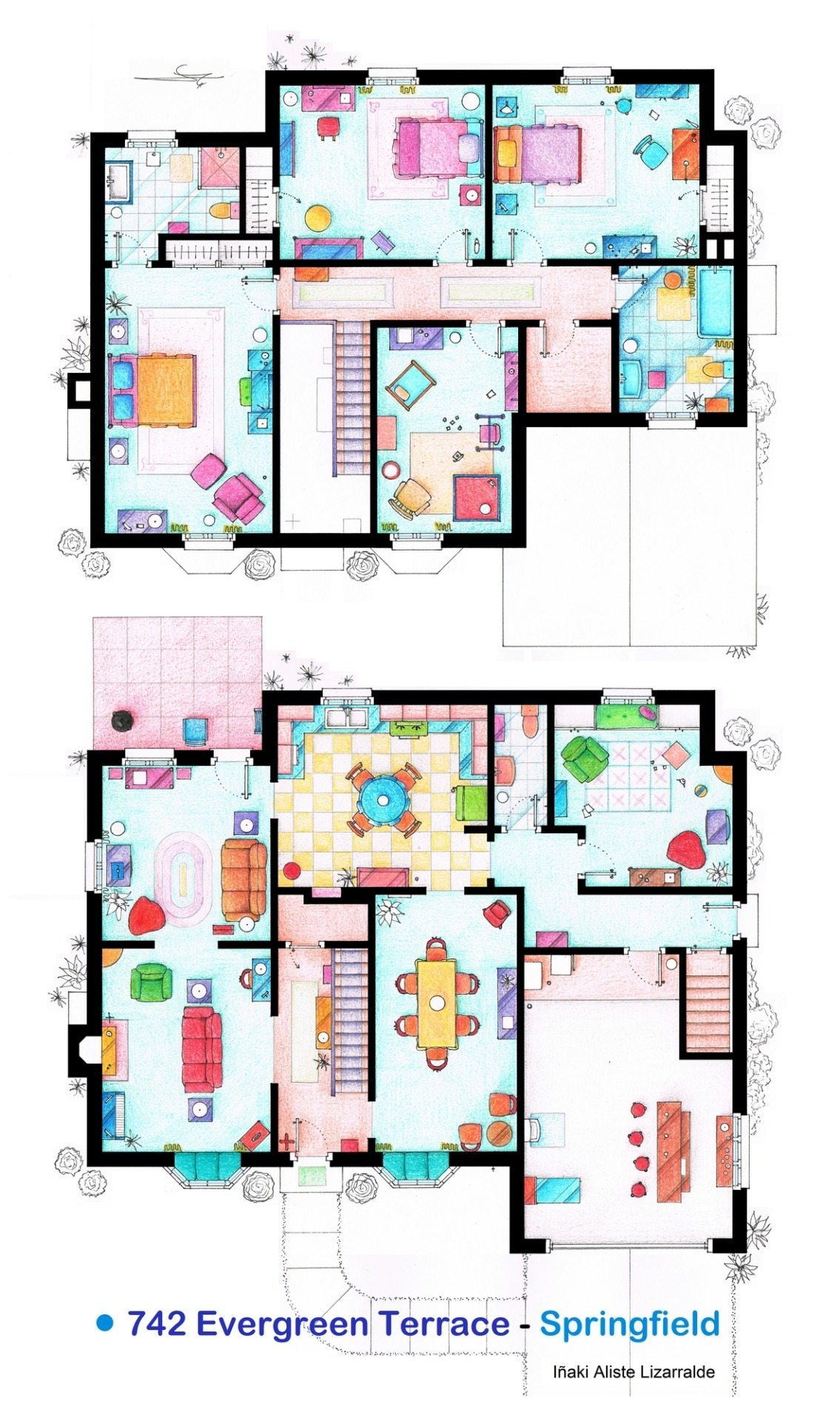 plano de la casa simpson