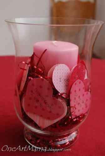 centro de mesa romántico  para san valentín