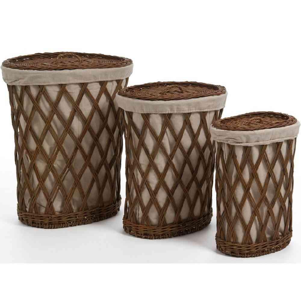 Ideas para decorar con cestos de mimbre el hogar - Cesto ropa mimbre ...