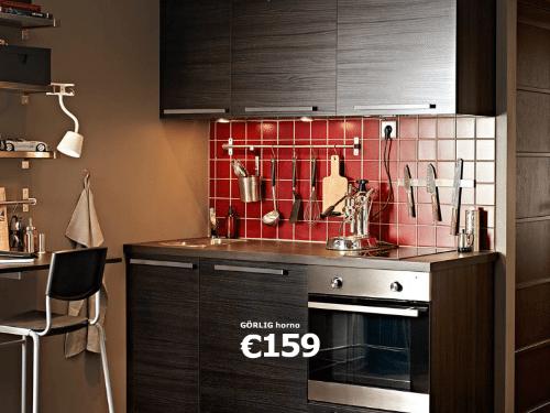 Cocina pequeña de Ikea para aprovechar pequeños espacios
