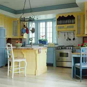 El color amarillo para pintar las paredes de la cocina