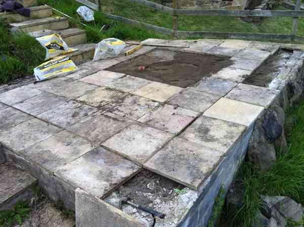 construcción de una casa de palets - como hacer los cimientos