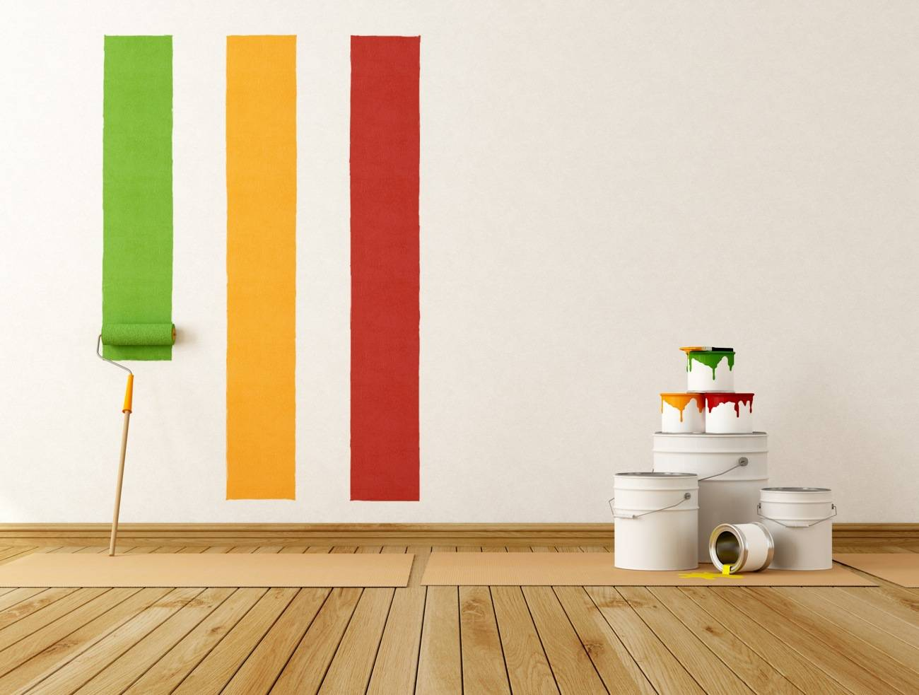 DECORACION - pintar pared colores vivos - dp