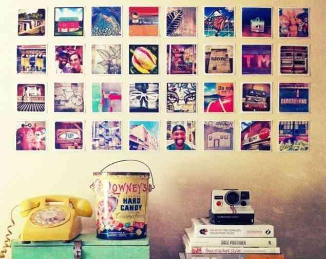 decorar dormitorios originales - fotografías polaroid