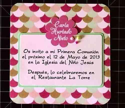 invitaciones para primera comunión