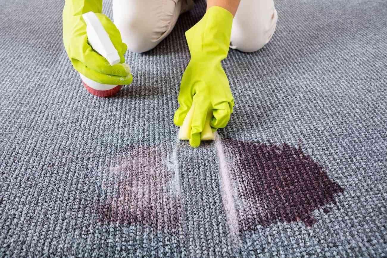 limpiar manchas en la alfombra